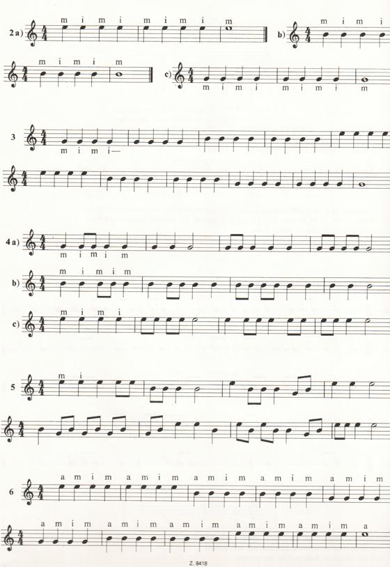 Далее изучаем басовые открытые струны ре, ля, ми и соответствующие им
